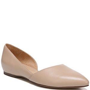 Naturalizer Tamara d'Orsay Taupe Leather Flat